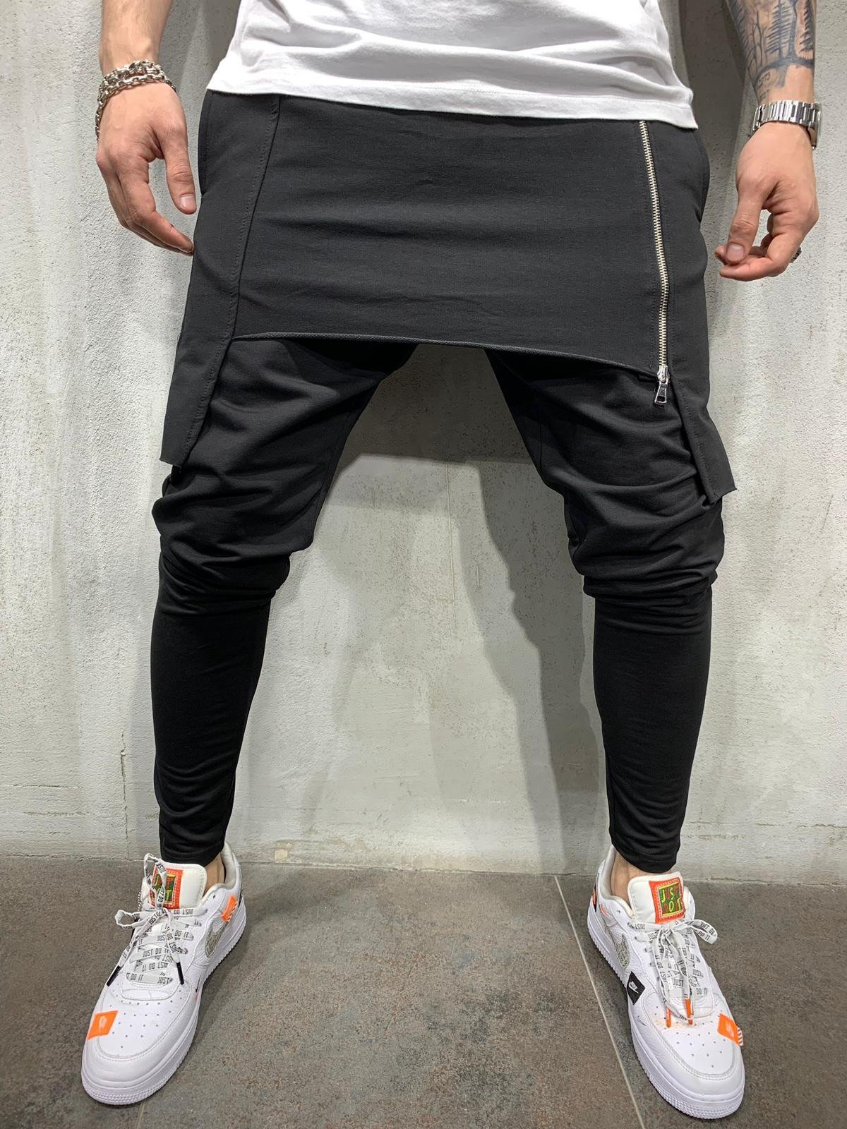 2019 European And American Men'S Self-Cultivation Personality Casual Two-Layer Sports Trousers Men'S Harem Pants, Outdoor