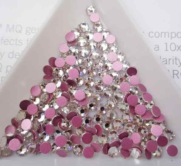 2020 Terbaru Kristal AB Paku Seni Berlian Imitasi Berwarna Merah Muda, Merah Muda Rose Base Non Panas Memperbaiki Flatback Berlian Imitasi Kain Garment Kuku Seni Dekorasi