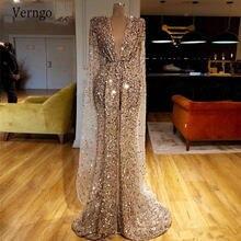 Вечернее платье с блестками и v образным вырезом verngo в арабском