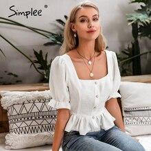 Simplee Vintage long sleeve women blouse shirt