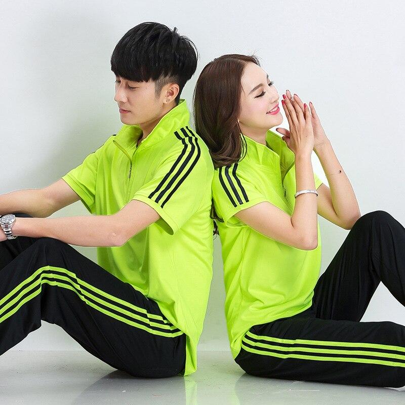 Summer New Style Sports Set Jiamusi Square Dance Fitness Exercise COUPLE'S Jiamusi Team Sports Clothing Men And Women