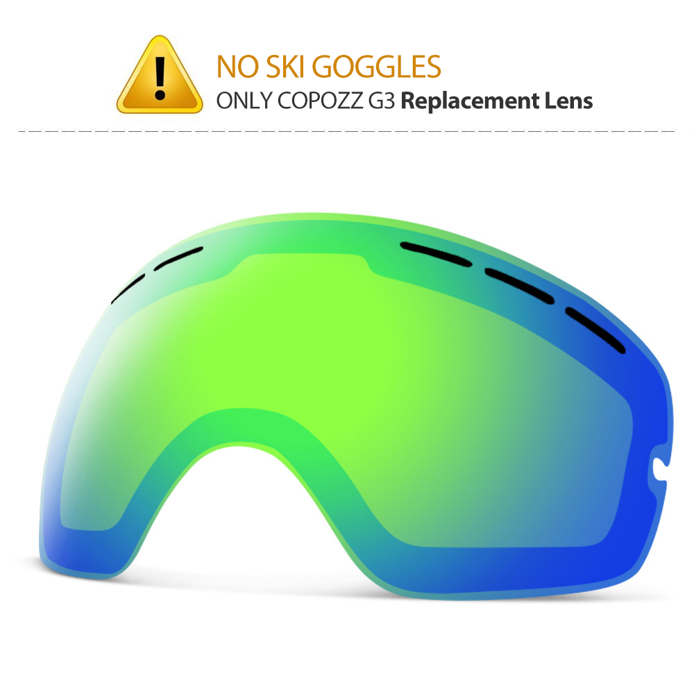 COPOZZ Kids Replacement Lens Only Small Size Children Double UV400 Anti-fog Skiing Girls Boys For Snowboard Goggles GOG-243