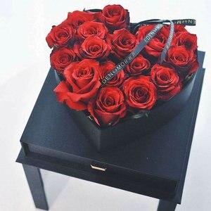 Crystal magic fun kwiaty akrylowe kwadratowe okno wkład do szuflady prezent miłosny pudełko kwiatowe opakowanie kwiaty pudełko