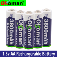 100% New 1.5V Rechargeable AA Battery 3800mah Alkaline Batteries For Clock Toys Flashlight Remote Control Camera battery|Replacement Batteries| |  -