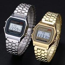 Donna uomo orologio Unisex oro argento nero Vintage LED sport digitali orologi da polso militari regalo digitale elettronico regalo maschile