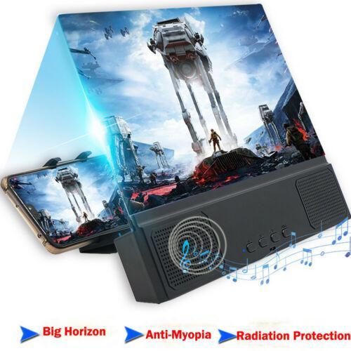 Mobile Phone Screen Magnifier HD Video Amplifier Folding Enlarged Expander Desktop Bracket Phone Holder Mount With Speaker d25