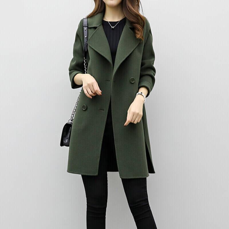 lã casaco preto mulher manteau veste femme
