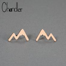 Женские Горные сережки Chandler, сережки-гвоздики из нержавеющей стали, ювелирные изделия для путешествий