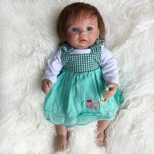 15 pollici In Vinile Baby Doll rinato Bambini Accompagnare Presente Realistica Neonato Ragazza Bambino Adorabile Giocattoli Regalo per le Ragazze 2020 Nuovo disegno