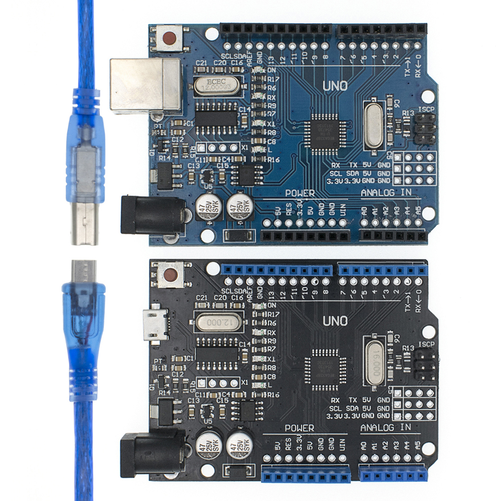High Quality One Set UNO R3 CH340G+MEGA328P Chip 16Mhz For Arduino UNO R3 Development Board USB CABLE ATEGA328P