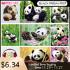 GATYZTORY Paint By Numbers For Adults Children Panda DIY HandPainted Oil Painting Drawing On Canvas Unique Gift Home Decoration