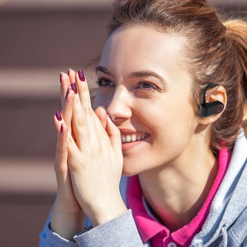 JHO-A9S Bluetooth 5.0 Ear-mounted Wireless TWS Headset HiFi Sound HD Call Dynamic Headphone Auto Connection Ear Hanging Earphone (9)