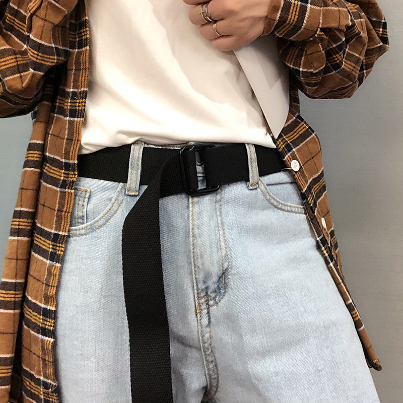 Canvas Belts Men's And Women's Belts With Denim Trousers For Students' Military Training Strap New Leisure Outdoor Couples Belt