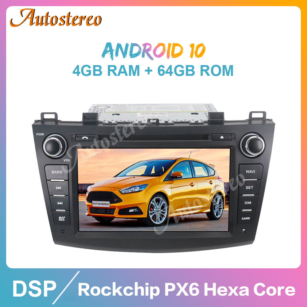 Android 10 4GB+64GB Car Radio Player Car <font><b>GPS</b></font> Navigation For <font><b>Mazda</b></font> 3 Axela 2009-2012 Auto Stereo Multimedia Player Head Unit ISP image