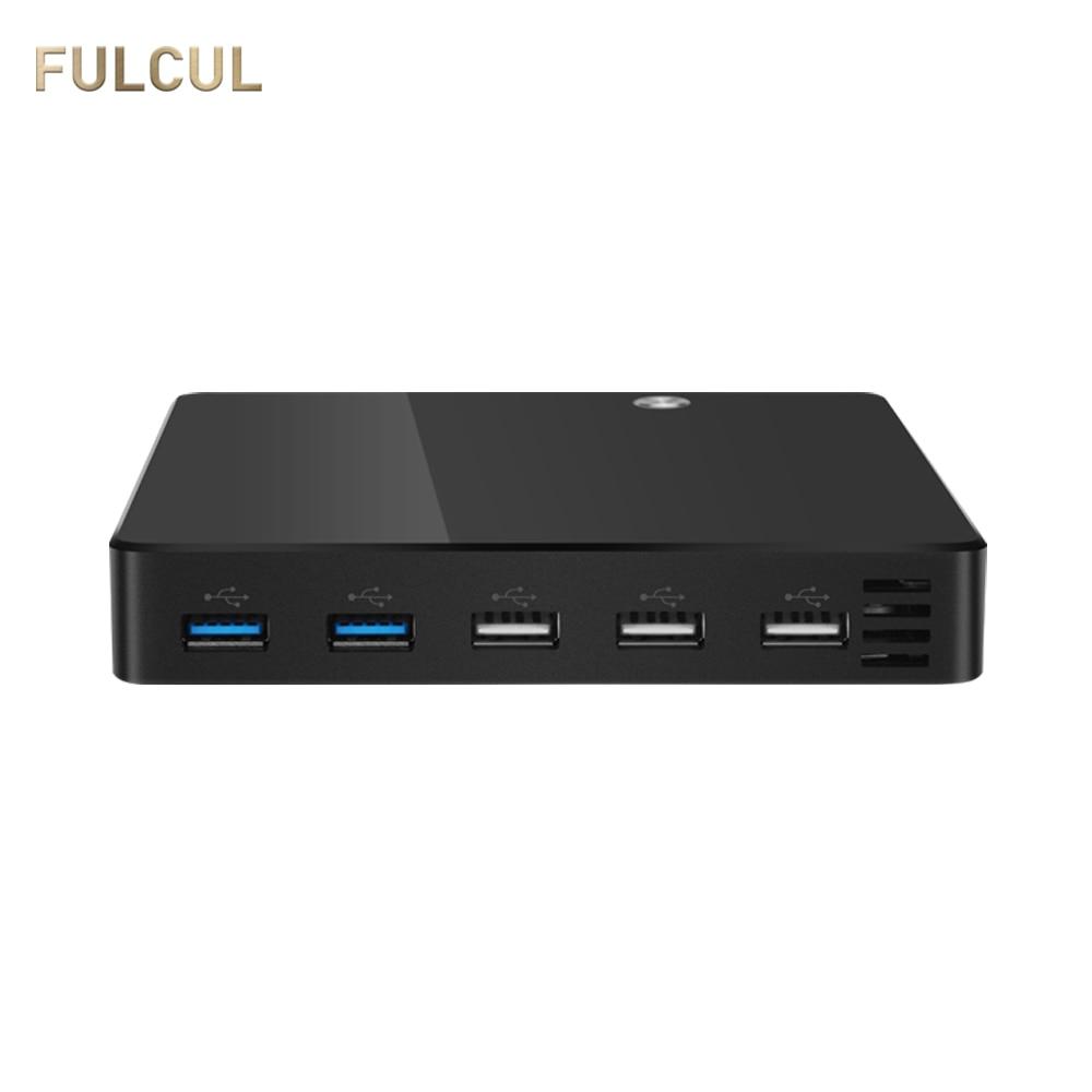 Ultra Thin Mini PC Intel Celeron 1007U Pentium 2117U Windows Xp Desktop TV BOX HDMI 4K VGA 5*USB Family Computer