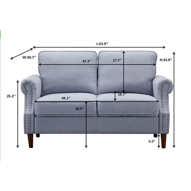 Velvet Fabric Love Seat  6