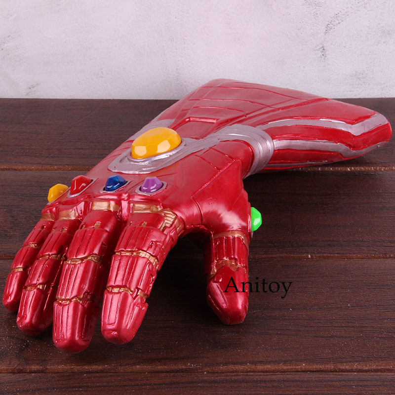 Marvel Avengers 4 Endgame Iron Man Infinity Gauntlet Glove with LED Light Soft Cosplay PVC Action Figure Collectible Model Toy 1