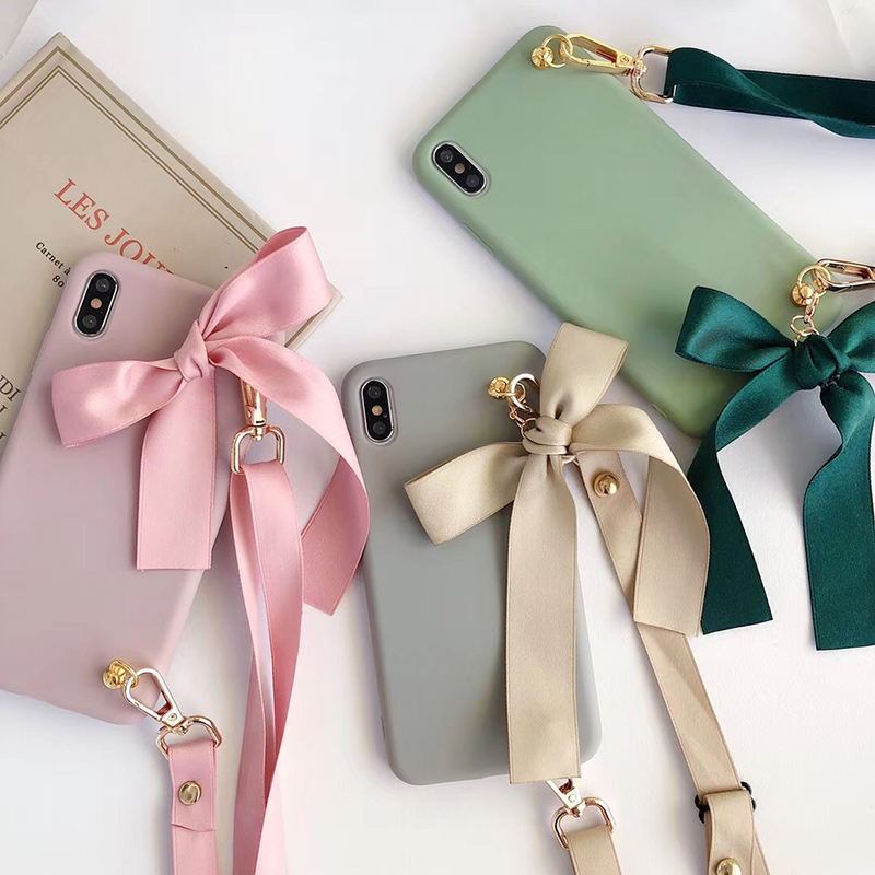 Bow Tie Bag Soft Silicon Phone Case For Iphone 6 7 8 Plus X XS XR MAX 11 Pro For Samsung Galaxy S8 S9 S10 Note 10 A50 A70 Cover