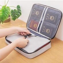 Portable Large Capacity Multi-Layer Document Bag File Folder Certificate Organizer Case Card Holder Travel Passport Briefcase