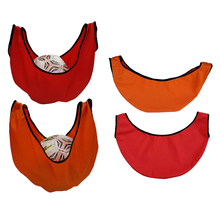 2 Pieces Bowling Ball Bag Cleaner Ball Polisher and Carrier Bag for Gym Equipment Ball Polisher Red+ Orange