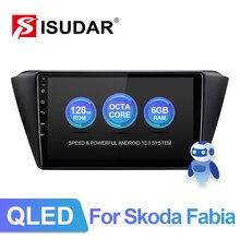 ISUDAR – autoradio V72, Android 10, 4G, GPS, CANBUS, stéréo, écran Bluetooth, sans 2din, pour voiture Skoda Fabia (2015, 2016, 2017, 2018, 2019)