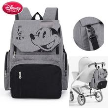 Disney Windel Tasche Rucksack Mickey Maus Disney Mummy Tasche Mutterschaft für Baby Pflege Windel Tasche Kinderwagen Reise Handtasche Freies Haken