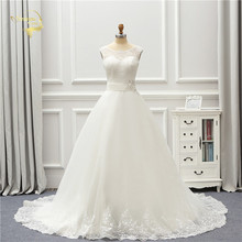 Jeanne Love Tulle Wedding Dress 2020 Applique Lace Robe De Mariage JLOV75998 A Line Vestido Noiva Brida Dresses Gown