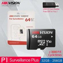 HIKVISION 100% Original Micro SD tarjeta Class10 TF TARJETA DE 32/64/128/256GB Max 90 Mb/s tarjeta de memoria para Hikvision de seguridad # P1