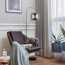 СВЕТОДИОДНЫЙ торшер простой стеклянный торшер креативная спальня Напольная Лампа