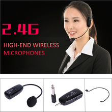 Wireless Microphone Headset Loudspeaker Megaphone-Radio Teaching with for Meeting-Guide