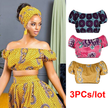 3PCs/lot Wholesale Women African Clothes Tops Shoulder Off S