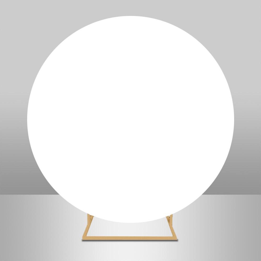 Круглый фон охватывает белые однотонные Цвет для вечеринки, дня рождения детского дня рождения на заказ эластичная повязка круг для студий...