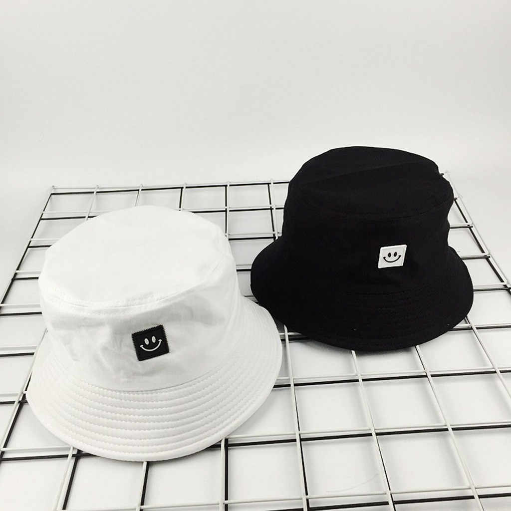 Smiley Labeling Fisherman Hat Unisex Adult New Fashion Fisherman Hat Sunscreen Outdoors Casual Cap Harajuku Hat #YL5