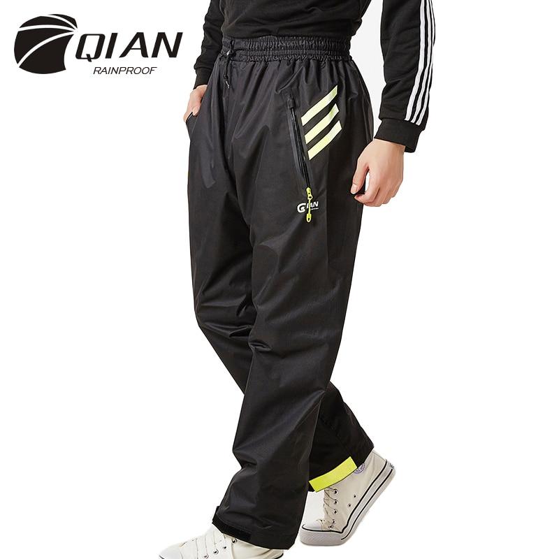 QIAN Impermeable Rain Pants Women/Men Raincoat Outdoor Thicker Waterproof Trousers Motorcycle Fishing Camping Rain Gear Pants