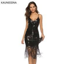 Длинное коктейльное платье с блестками v образным вырезом