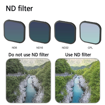 Optical Glass CPL ND 4.3x4.3mm Photograph Square Oilproof Replacement Parts Camera Lens Filter Set Waterproof For GoPro Hero 8