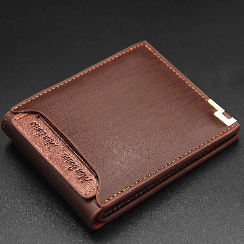 Мужской bense кожаный бумажник для мужчин тонкий коричневый кошелек carteira masculina портмоне держатель для кредитных карт функциональные кошельки 119B-189