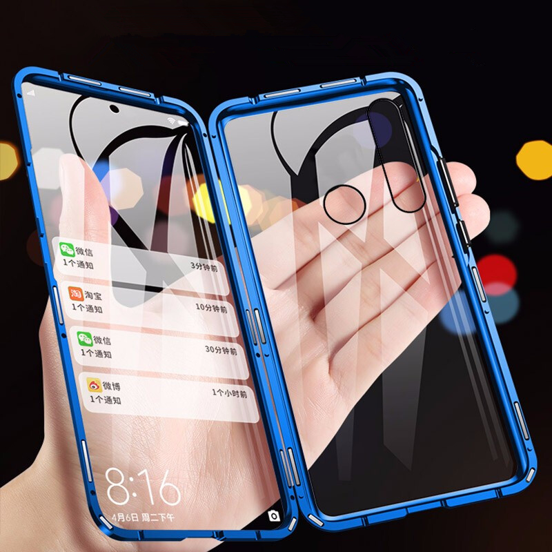 Magnetic Case For Huawei P30 Pro Mate 20 20X P20 Lite Mate 30 Nova 5i 3i Cover Double Tempered Glass For Honor V20 V10 10 8X 9X image
