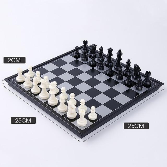 1 jeu de dames magnétiques pliables or, argent, noir et blanc, cartes d'échecs de divertissement, jouet d'échecs YJN 6
