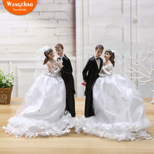European Style Creative Beautiful Resin Couple Dolls Wedding Cake Topper Bride and Groom Marriage Decoration Party Supplies