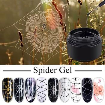 Lakier do paznokci lakier do paznokci 8ml lakier do paznokci pająk do paznokci kreatywny lakier do paznokci lakier do paznokci hybrydowy żelowy lakier do paznokci nowość tanie i dobre opinie ISHOWTIENDA Nail Spider Gel Z tworzywa sztucznego