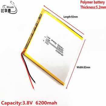 Liter energy battery Good Qulity 3.8V,6200mAH 528292 Polymer lithium ion / Li-ion battery for tablet pc BANK,GPS,mp3,mp4 image