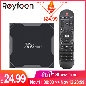 Image 1 - חכם טלוויזיה תיבת אנדרואיד 9.0 X96 מקס בתוספת 4GB 64GB 32GB Amlogic S905X3 Quad Core 5.8GHz wifi 1000M 4K 60fps סט מדיה נגן x96max