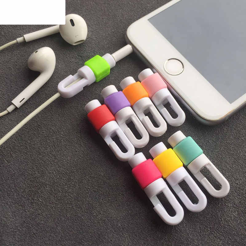 5pcs Earphone Cable Protector For iphone headphone Wire organizer Earpods Cord Protector Protective Case Winder Cover