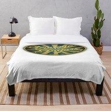 Manta estampada Sherpa, manta suave de franela, decoración del hogar para cama, guitarras Vintage maravillosas, envío directo