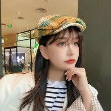 Hats Boina Beret Flatpainter-Caps Autumn Winter Girl Wool Bonnet Sombreros Warm Pour