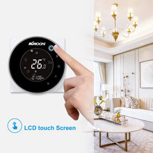 KKmoon Thermostate Digitale Wasser Heizung Thermostat WiFi Verbindung Voice Control Touch screen haus Zimmer Temperatur Controller(China)