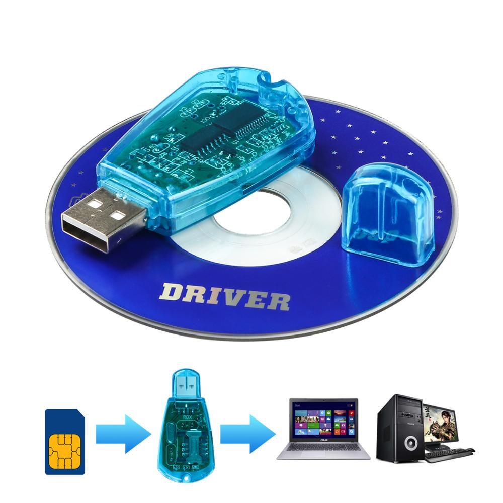 USB Cellphone Standard SIM Karte Reader KopieKlon Writer SMS Backup GSM//CDMA AHS