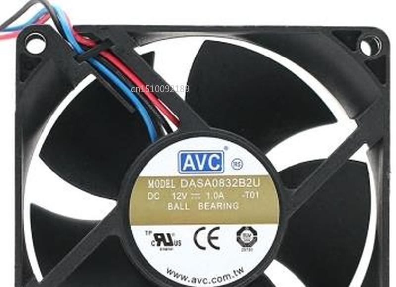 For DASA0832B2U New 80 * 32 12V 1.0A 8 Cm Four-wire PWM Large Air Volume Cooling Fan Free Shipping