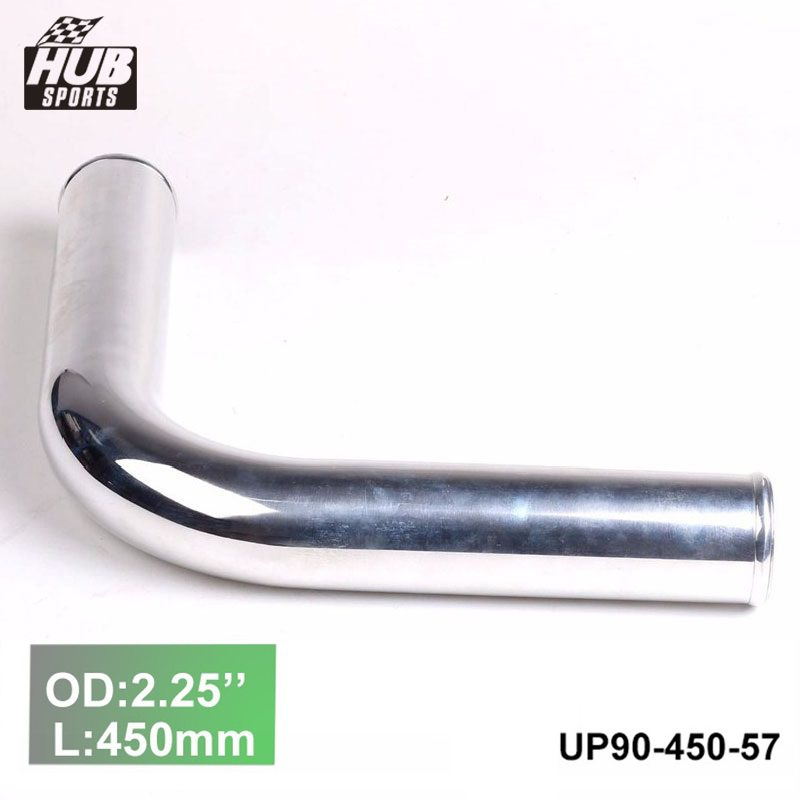 "Aluminum 3/"" OD 90 deg Elbow Turbo Intercooler Intake pipe"
